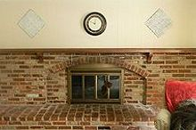 whitewashed brick mantel fireplace fall, chalk paint, concrete masonry, fireplaces mantels, home decor, living room ideas, painting