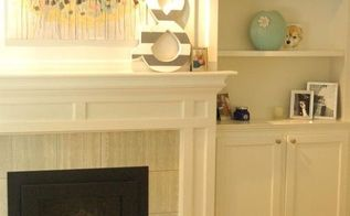 our transformed fireplace before after, diy, fireplaces mantels, living room ideas, shelving ideas, woodworking projects