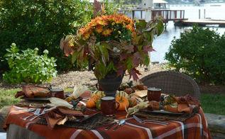 autumn tablescape quick centerpiece, home decor, seasonal holiday decor