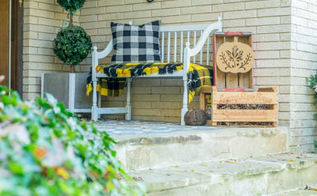 decorating for fall on a budget, crafts, porches, repurposing upcycling, seasonal holiday decor