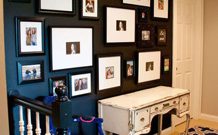 wall decor family photo gallery, foyer, home decor, wall decor
