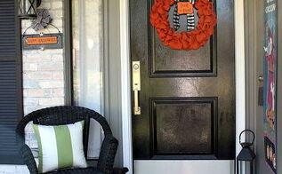 halloween porch, diy, halloween decorations, outdoor living, seasonal holiday decor