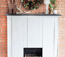 outdoor fall fireplace mantel rustic decor, fireplaces mantels, seasonal holiday decor