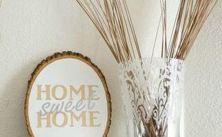 home decor wood slice craft, chalk paint, crafts, home decor