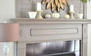 fall mantel monochromatic simple elegant, crafts, fireplaces mantels, seasonal holiday decor