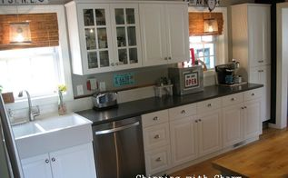 kitchen makover countertops farmhouse sink, home improvement, kitchen cabinets, kitchen design, repurposing upcycling