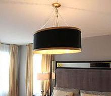 diy drum shade chandelier, lighting