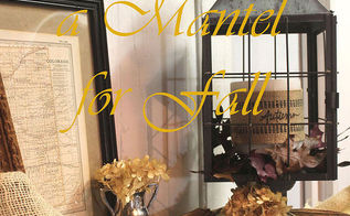 faux mantel decorated fall, fireplaces mantels, home decor, seasonal holiday decor