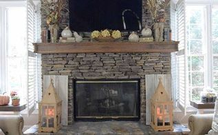 how to rustic fall mantle, fireplaces mantels, home decor, seasonal holiday decor