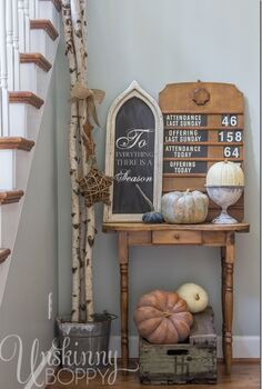 vintage sign fall decorating, crafts, home decor
