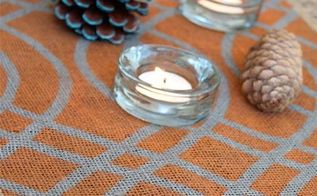 how to stencil burlap table runner, crafts, painting, seasonal holiday decor