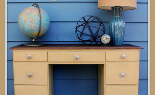 how to create mid century modern desk upcycle, painted furniture, repurposing upcycling