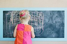 how to create an outdoor chalkboard for kids, chalkboard paint, outdoor living