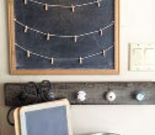 thanksgiving chalkboard display, crafts, repurposing upcycling