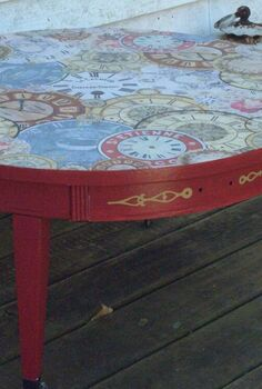how to make decoupage vintage covered table, decoupage, painted furniture