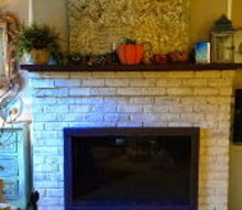 how to paint your fireplace brick, concrete masonry, diy, fireplaces mantels, painting