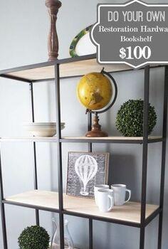 restoration hardware bookshelf do it yourself, shelving ideas, storage ideas