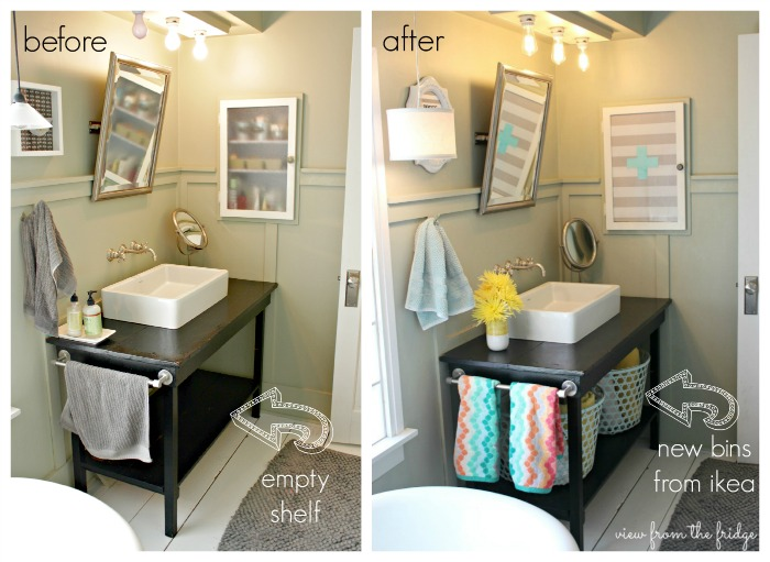 Colorful and bright bathroom makeover hometalk for Bathroom update ideas