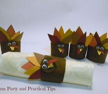 how to make thanksgiving turkey napkin rings, crafts, seasonal holiday decor, thanksgiving decorations