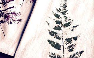 how to make fern printed tea towels, crafts