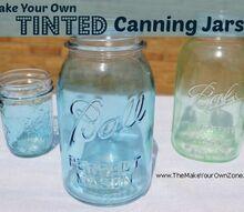 diy tinted canning jars how to, crafts, mason jars, repurposing upcycling