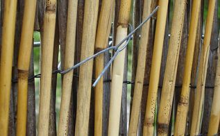 how to do a reed fence upgrade, diy, fences, gardening