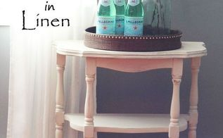 vintage entry table makeover general finishes in linen, paint colors, painted furniture, painting, rustic furniture, shabby chic