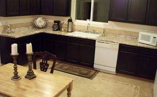 kitchen redo with paint plaster and stencil, countertops, flooring, home decor, kitchen design, Kitchen After