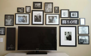 black and white tv gallery wall idea decor, bedroom ideas, home decor, wall decor