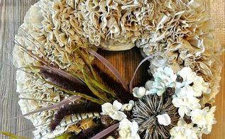 how to make a coffee filter wreath, crafts, repurposing upcycling, seasonal holiday decor, wreaths