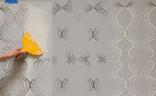 how to do stenciling embossing, home decor, painting, wall decor