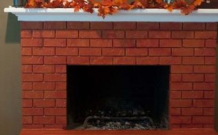 brick fireplace makeover with paint, concrete masonry, fireplaces mantels
