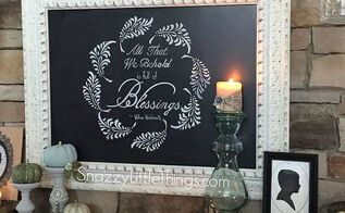 stenciling for thanksgiving how to, how to