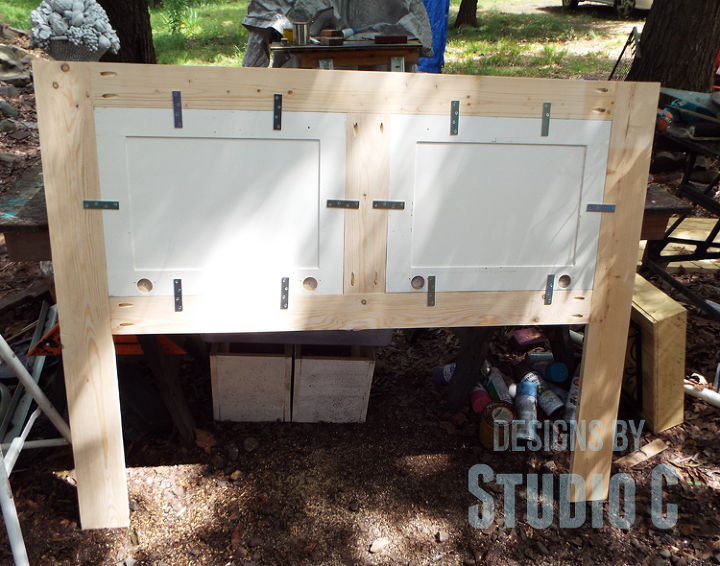 Build a Headboard Using Old Cabinet Doors | Hometalk