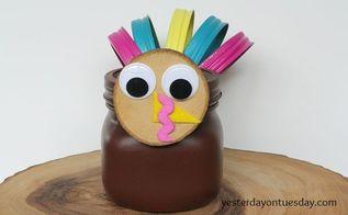 how to make a mason jar turkey, crafts, mason jars, seasonal holiday decor, thanksgiving decorations