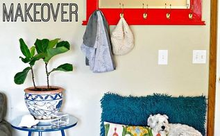 small space entryway mudroom makeover tips for cheap, foyer, home decor