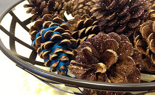 how to make glitter pinecones, crafts, seasonal holiday decor