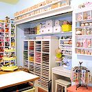 craft space room decor ideas storage, craft rooms, organizing, storage ideas, paper station and ribbon station