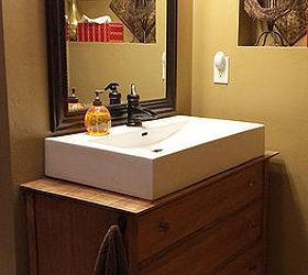 Bath Vanity From Upcycled Dresser Yard Sale Find Bathroom Ideas Painted  Furniture Repurposing