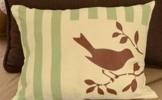 how to make easy painted and stenciled pillow cover, home decor, painting, reupholster