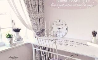 how to paint distress and transfer an image on a table, diy, painted furniture, painting, shabby chic