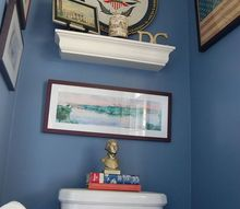 our powder room tells a story, bathroom ideas, home decor, paint colors, small bathroom ideas, wall decor