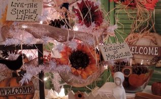 thanksgiving inspired christmas tree decor idea, christmas decorations, seasonal holiday decor, thanksgiving decorations