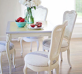 Craigslist Table And Chairs Makeover, Painted Furniture, Reupholster, It S  All In The