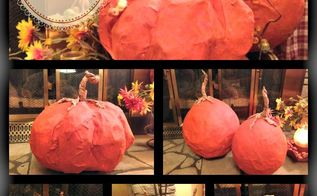 how to make paper mache pumpkins for thanksgiving, crafts, how to, seasonal holiday decor
