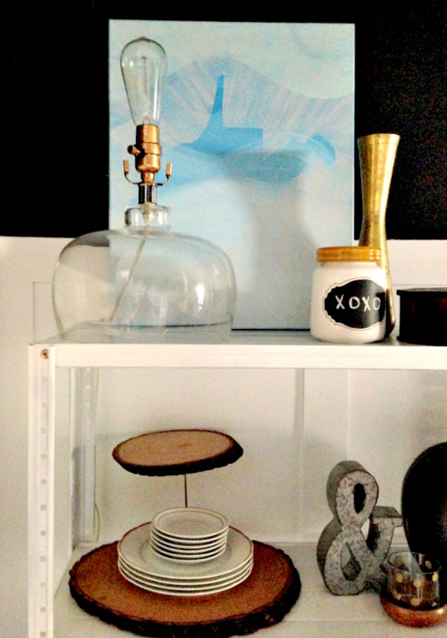 Walmart How To Make An Industrial Dining Room Shelf Diy Home Decor Painted