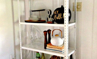walmart how to make an industrial dining room shelf, diy, home decor, painted furniture, shelving ideas