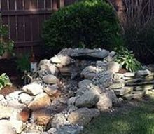 schererville pondless waterfall renovation, landscape, ponds water features, After