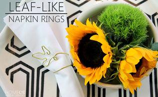 how to make leaf shaped napkin rings, seasonal holiday decor