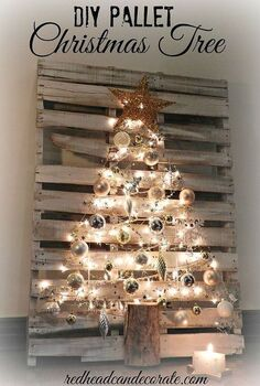 pallet christmas tree, christmas decorations, pallet, repurposing upcycling, seasonal holiday decor